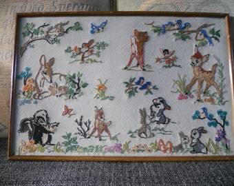 1930s Hand Embroidered Disney Picture