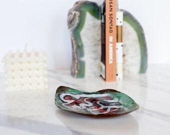 MCM Painted Enamel Trinket Tray