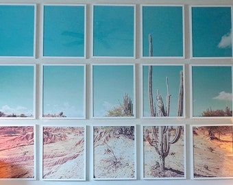 CUSTOM SIZED Cactus Desert Gallery Wall