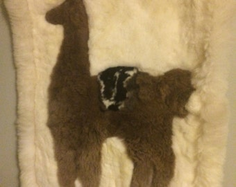 Amazing plush vintage alpaca wall hanging/Southwestern Decor'/