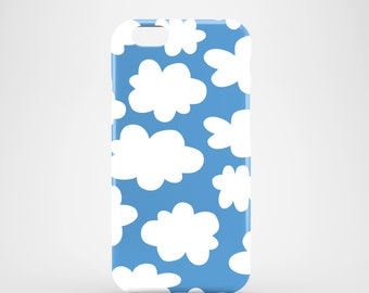 White Clouds phone case / iPhone case / blue iPhone 7 / iPhone 7 Plus / iPhone 6/6S / iPhone 5/5S / iPhone Se / Samsung Galaxy S7 / S6