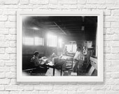 Key West - Florida - Cigar Packing - Circa 1905 - Old Town - Art Photography - Cigar Rolling - Cigar Art - Cigar Lover - Black and White