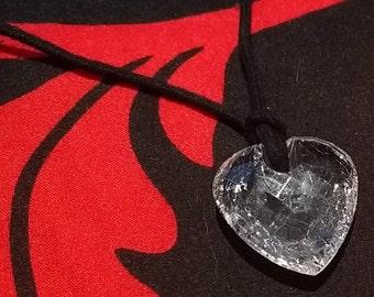Quartz Heart Necklace