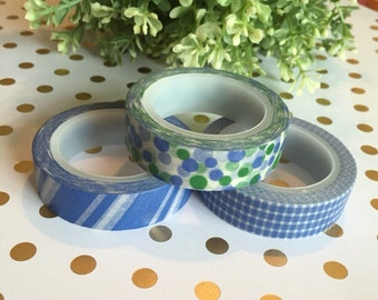 Pretty Blues Washi Tape