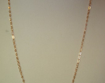 Pink Rose Gold Chain 22""