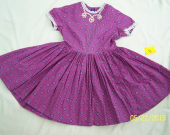 Girls Vintage Dress in Purple