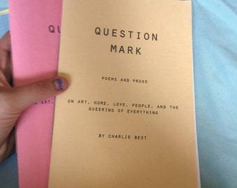 Question Mark queer poetry zine