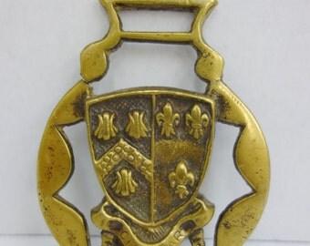 """Vintage """"Cheddar"""" Horse Brass Medallion"""