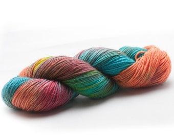 """Superwash Merino Sport Weight Yarn Only The Good Dye Yarn """"Floyd"""""""
