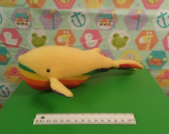 Humpback Whale Stuffed Animal In Yellow.