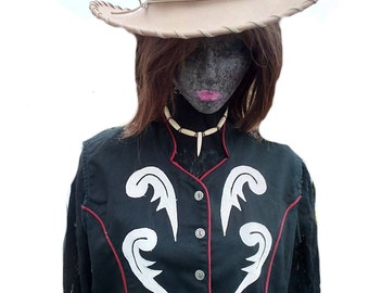 Vintage Gordon and James ladies western style waistcoat