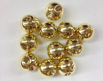 15mm Round Gold Button selling by dezon (12pcs)