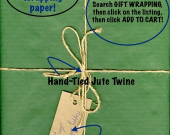 Gift Wrapping Add On ~ Gift Wrapping Service ~ Gift Wrap Your Purchase ~ Personalized Gift Wrapping Add-On Service
