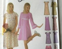 Simplicity UNCUT 5645 Girls Size AA 7, 8, 10 Design Your Own Pullover Dress Pattern
