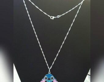 Sterling Silver Stitch necklace