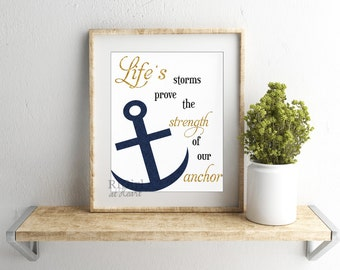 INSTANT DOWNLOAD Anchor quote print