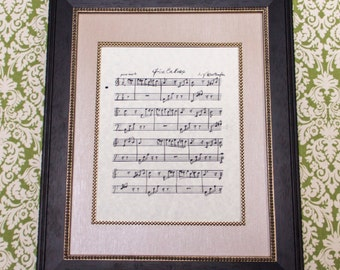 Fur Elise by L. V. Beethoven Handwritten Sheet Music: Classical Print