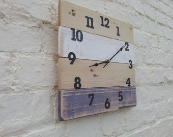 SPECIAL OFFER: Wooden Wall Clock, Pallet Wood Clock -  pallet wood - shabby chic decor - gift idea -