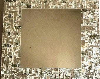 Silver mirror tile
