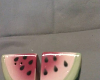Watermelon Chunks Salt and Pepper Shaker Set