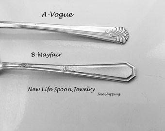 """Spoon Bracelet """"Choose Your Pattern"""" Handmade Gift Spoon Jewelry Vintage Jewelry Fork Bracelet Spoon Ring Silverware Bracelet Gift - 66"""