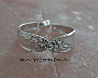 "Spoon Bracelet ""Daffodil""Jewelry Vintage Spoon Handles Handmade Christmas Gift Fork Jewelry Recycled Silverware-199"