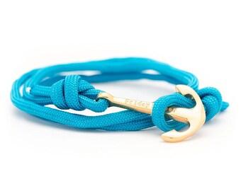 Blue Rope Bracelet, Anchor Bracelet, Men's Bracelet, Women's Bracelets. Paracord Bracelet.