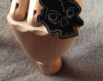 Chalkboard Skull Ring