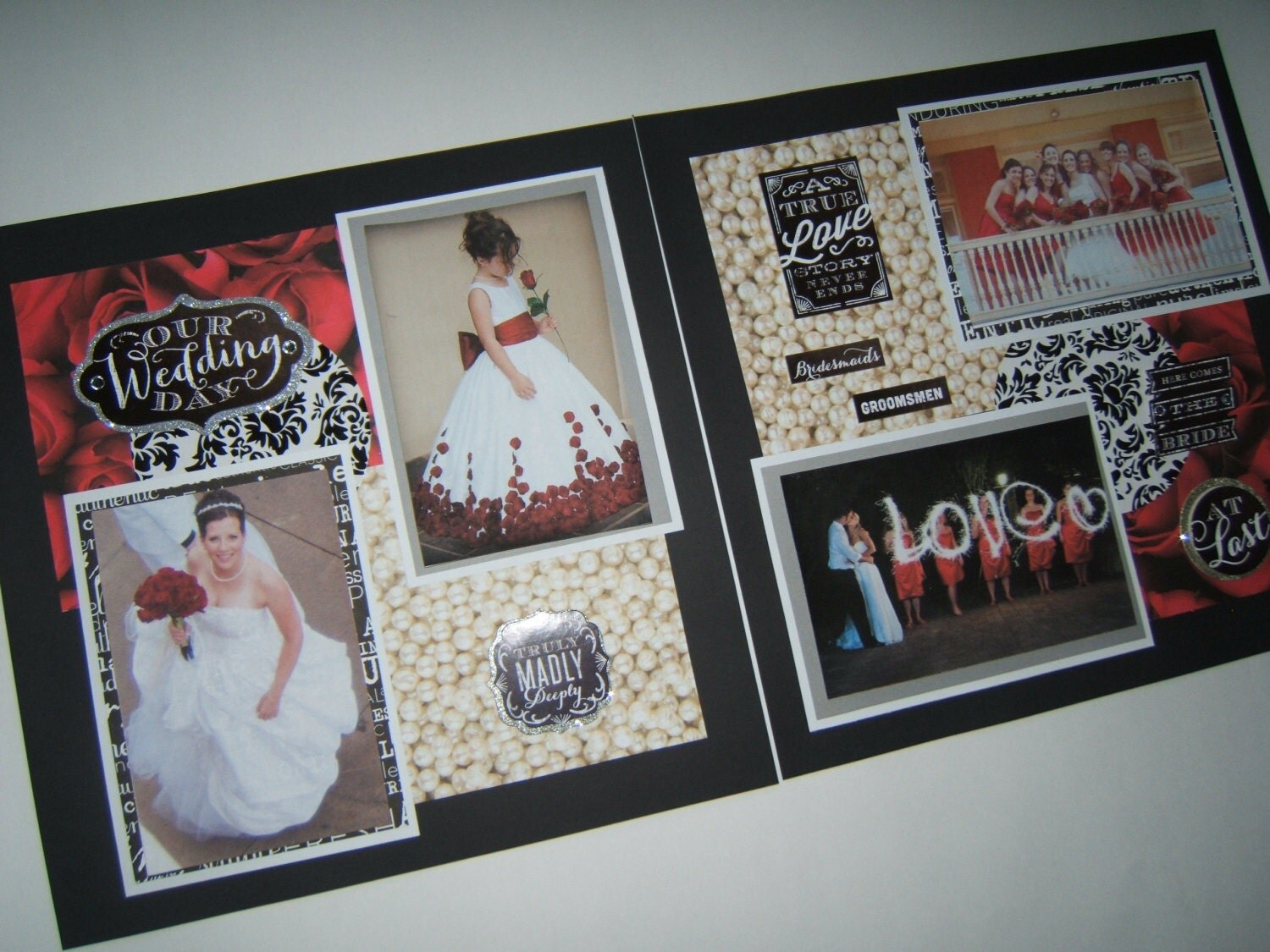 Wedding Scrapbook Pages Premade Red Wedding Layouts