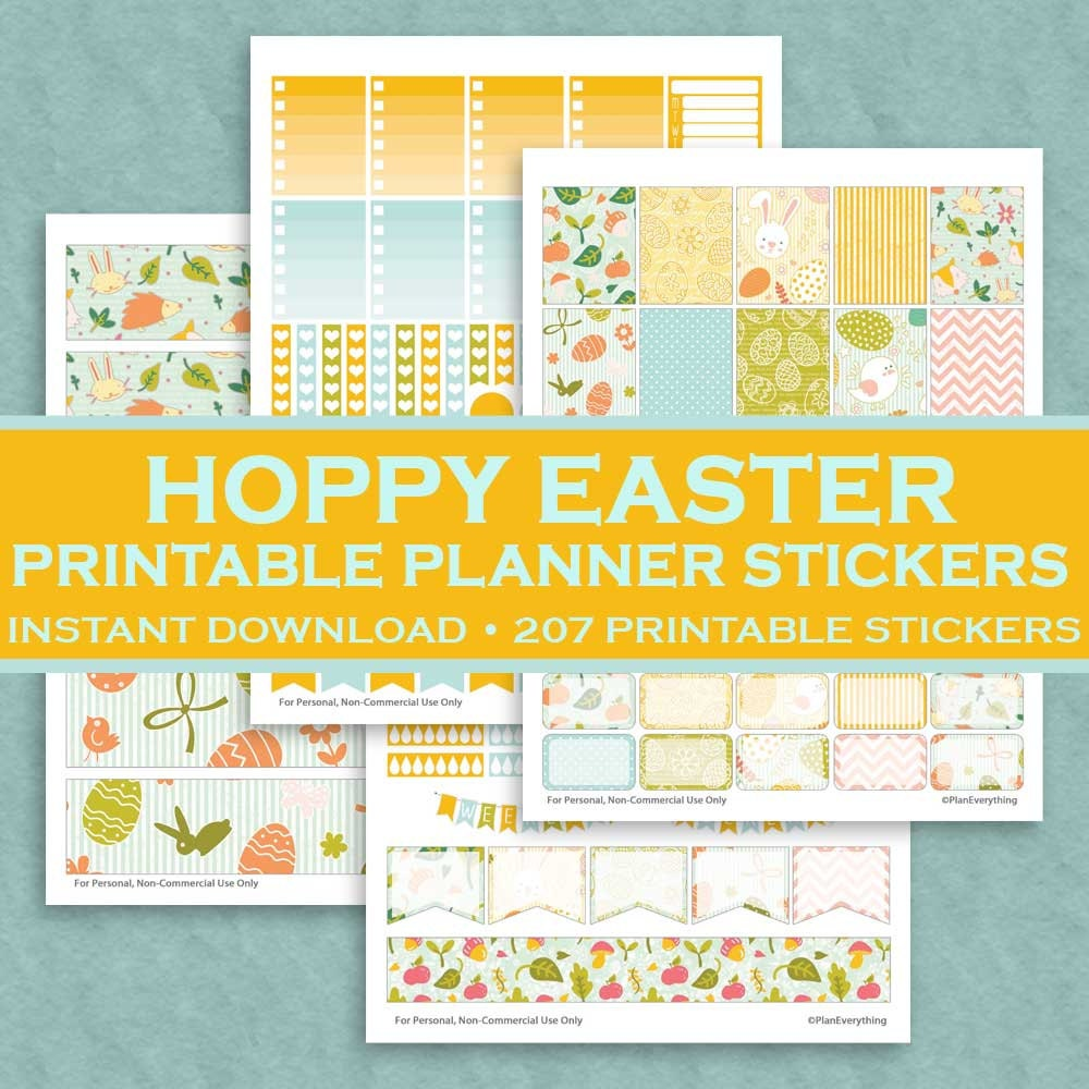 Free printable easter stickers for planners gift wrapping dinocrofo negle Images