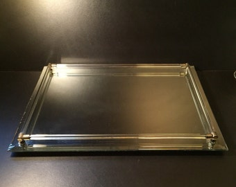 Vintage Mirrored Tray