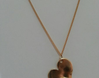 Gold Heart Necklace    .Elegant necklace for women 60 cm long.