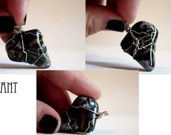 Silver Leaf Jasper Pendant