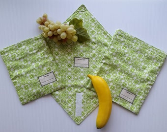 Reusable Snack Bags and Sandwich Wrap, Eco-friendly Lunch Set-Ready to Ship