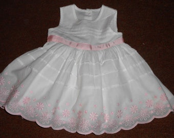 Sale, Baby Party Dress, Baby Girls' Clothing, Baby Dress,  Baby Girl Dresses, White Dress, Infant Dress, Sleeveless Dress, Party Dress