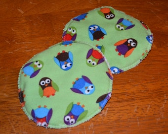 Nursing Pads - Flannel with Microfiber Terrycloth insert (pair)