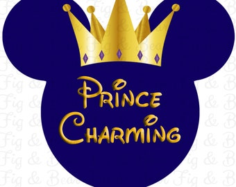 Mickey Mouse Disney World Prince Charming Shirt Digital Download Disney Instant Download