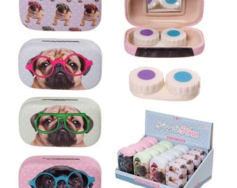 Gorgeous pug contact lens case!