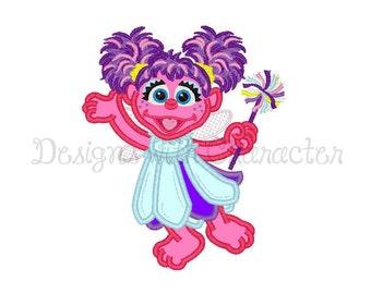 "Fairy applique machine embroidery design- 4 x 4"", 5 x 7"" and 6 x 10"""