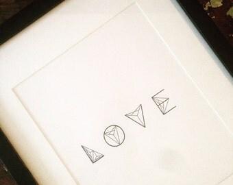 Love Cubed Digital Print, Art, Design