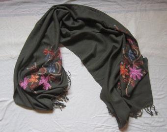 green big scarf