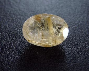 Rutilated QUARTZ oval cut 5,6 ct (no 21)