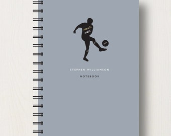 Personalised Football Lover's Journal or Notebook