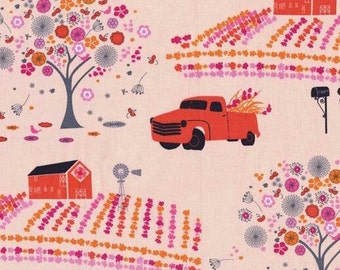 Madrona Road Farmstead in petal by Violet Craft for Michael Miller  OOP -  cotton quilting fabric by the yard