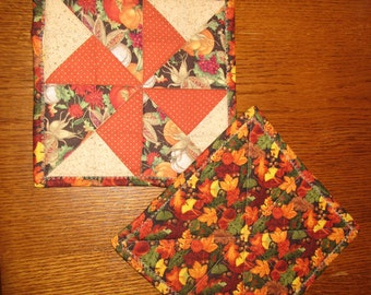 Quilted Trivets/Potholders - Harvest Theme