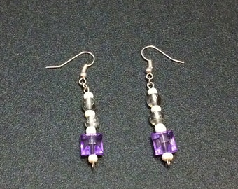 Amethyst Tip Earrings