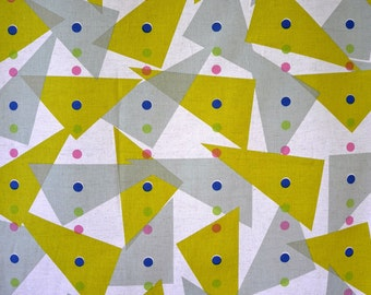 Free Shipping in AU! Kokka Linen/Cotton Triangles Fabric