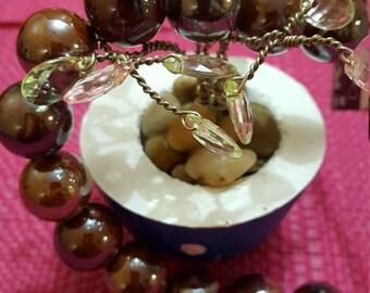 Blue Moon Beads Ceramic Strand Bead 16mm Metallic Brown AJM-ZS-003-00405
