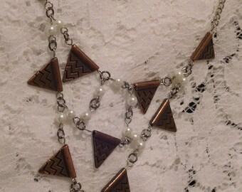 Bronze Arrows Falling Necklace