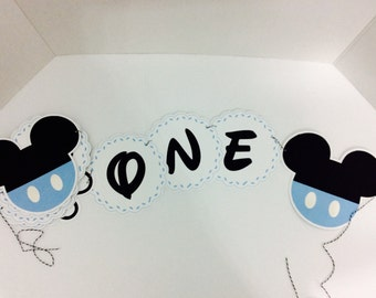 Mickey mouse banner Etsy